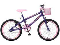 Bicicleta Infantil Aro 20 Colli Bike July - Violeta com Cesta Freio V-Brake
