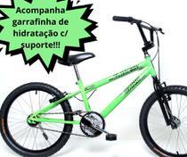 Bicicleta Infantil Aro 20 Cross Verde Neon Cairu -