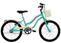 Bicicleta Infantil Aro 20 Feminina Beach Retrô Azul Turquesa - Dalannio Bike