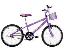 Bicicleta Infantil Aro 20 Feminina Melissa com Cesta Lilas - Dal'Annio Bike