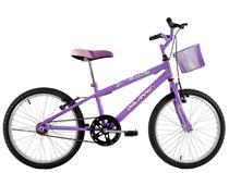 Bicicleta Infantil Aro 20 Feminina Melissa com Cesta Lilas - Dalannio Bike