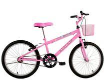 Bicicleta Infantil Aro 20 Feminina Melissa com Cesta Rosa - Dal'Annio Bike