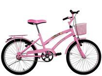 Bicicleta Infantil Aro 20 Feminina Susi Com Para-lama e Cesta - Dalannio Bike