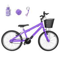 Bicicleta Infantil Aro 20 Lilás Promocional - Flexbikes