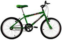 Bicicleta Infantil Aro 20 Masculina Cross Kids Verde Neon - Dalannio Bike
