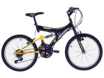 Bicicleta Infantil Aro 20 Polimet Kanguru  - 18 Marchas Preto Freio V-Brake