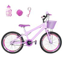 Bicicleta Infantil Aro 20 Rosa Bebê Kit E Roda Aero Pink Com Acessórios - Flexbikes