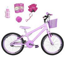 Bicicleta Infantil Aro 20 Rosa Bebê Kit E Roda Aero Rosa Bebê C/ Acessórios E Kit Proteção - Flexbikes