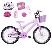 Bicicleta Infantil Aro 20 Rosa Bebê Kit E Roda Aero Rosa Bebê C/ Capacete E Kit Proteção - Flexbikes