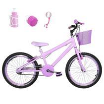Bicicleta Infantil Aro 20 Rosa Bebê Kit E Roda Aero Rosa Bebê Com Acessórios - Flexbikes