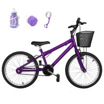 Bicicleta Infantil Aro 20 Roxa Promocional - Flexbikes