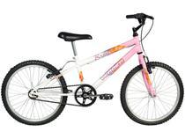 Bicicleta Infantil Aro 20 Verden Brave - Branca e Rosa Freio V-Brake