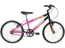 Bicicleta Infantil Aro 20 Verden Brave - Preta e Pink Freio V-Brake