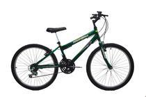Bicicleta Infantil aro 24 18 marchas new bike Esportiva Preto/verde -