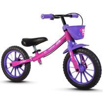 Bicicleta Infantil Balance Sem Pedal Equilíbrio Rosa - Nathor -