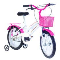 Bicicleta Infantil Breeze Rosa Aro 16 com rodinha - Verden