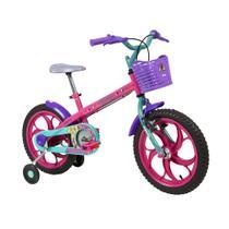 Bicicleta Infantil Caloi Barbie Aro 16 - Rosa -