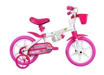 Bicicleta Infantil Caloi Cecizinha Aro 12 - Rosa e Branco -