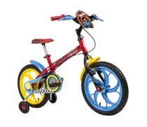 Bicicleta Infantil Caloi Hot Wheels Aro 16 - Vermelho -