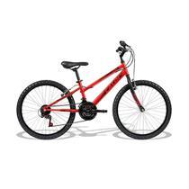 Bicicleta infantil caloi max aro 24 com 21 marchas - vermelha -