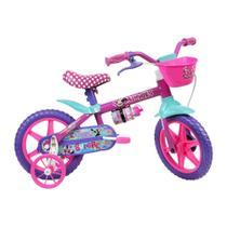 Bicicleta Infantil Caloi Minnie Aro 12 - Roda Lateral Para-lamas - Rosa -