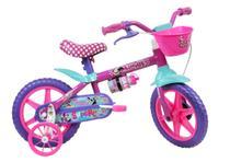 Bicicleta Infantil Caloi Minnie Aro 12 Rosa -