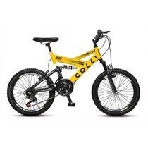 Bicicleta Infantil Colli Fulls GPS Aro 20 Dupla Suspensão 21 Marchas - 310.01D -