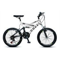 Bicicleta Infantil Colli Fulls GPS Aro 20 Dupla Suspensão 21 Marchas - 310.05D -