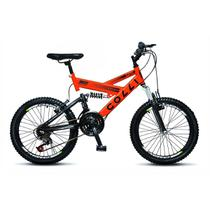 Bicicleta Infantil Colli Fulls GPS Aro 20 Dupla Suspensão 21 Marchas - 310.12D -