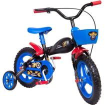 Bicicleta Infantil Com Rodinhas Aro 12 Moto Bike Com Cesta - Styllbaby