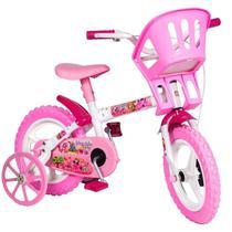Bicicleta Infantil Criança Aro 12 Princesas Branco E Rosa - Styll - Styll Baby