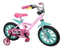 Bicicleta Infantil Criança Nathor Aro 14 First Pro Feminina -