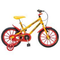 Bicicleta Infantil de Passeio Aro 16 Freio V-Brake Hot Quadro 12 Aço Amarelo - Colli Bike -