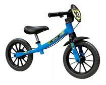 Bicicleta Infantil Equilíbrio Balance Bike Masculina 03 Azul Sem Pedal - Nathor -