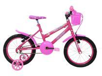 Bicicleta Infantil Feminina Aro 16 - Rosa - Cairu -
