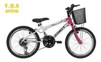 Bicicleta Infantil Feminina Athor Charmy 18v Aro 20 C/ Cesto -