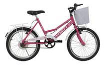 Bicicleta Infantil Feminina Athor Nature Aro 20 C/ Cesto -