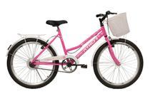 Bicicleta Infantil Feminina Athor Nature Aro 24 C/ Cesto -