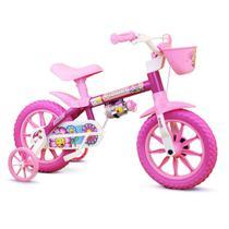 Bicicleta Infantil Flower - Aro 12 - Feminina - Nathor - De 2 A 6 Anos -