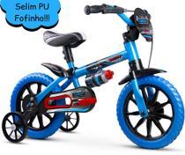 Bicicleta Infantil Masculina Aro 12 Azul - Veloz - Nathor