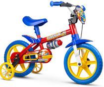 Bicicleta Infantil Masculina Aro 12 Vermelha - Fireman - Nathor