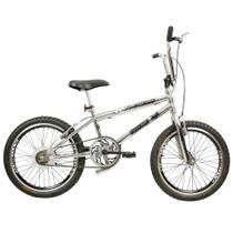 Bicicleta Infantil Masculina Aro 20 FMX - Cromado com Preto - Mega Bike