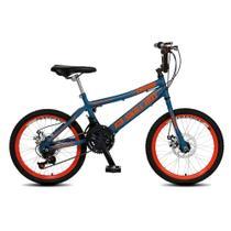 Bicicleta Infantil Masculina Aro 20 Skil Boy freio disco 21 marcha - Azul Fosco - Colli Bike