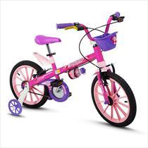 Bicicleta Infantil Menina 5 A 8 Anos Aro 16 Top Girls Nathor -
