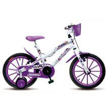 Bicicleta Infantil Menina Feminina Aro 16 Colli Amorinha - Branco - Colli Bike