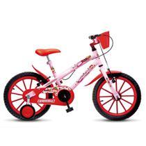 Bicicleta Infantil Menina Feminina Aro 16 Colli Moranguinho - Rosa - Colli Bike