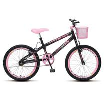 Bicicleta Infantil Menina Feminina Aro 20 Colli July - Preto Fosco - Colli Bike
