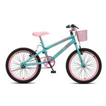 Bicicleta Infantil Menina Feminina Aro 20 Colli July - Verde Acqua - Colli Bike