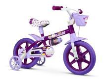 Bicicleta Infantil menina Roxa Aro 12 Puppy Bike - Nathor -