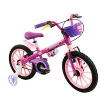 Bicicleta infantil meninas aro 16 top girls com cestinha e garrafinha de água - Nathor